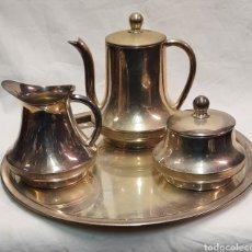 Antigüedades: JUEGO DE CAFÉ O TE DE ALPACA PLATEADA. Lote 249587495
