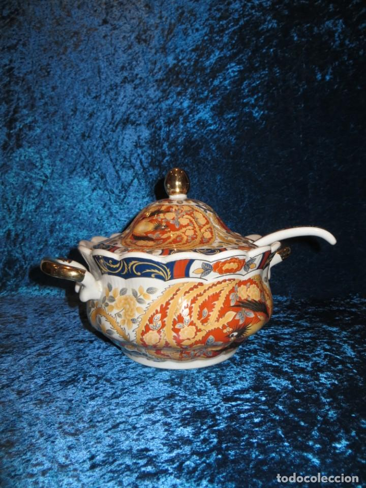 ANTIGUA SOPERA ENSALADERA PORCELANA CHINA KING CHENG ORIENTAL NUMERADA SELLADA FIRMA AVE FÉNIX ORO (Antigüedades - Porcelanas y Cerámicas - China)