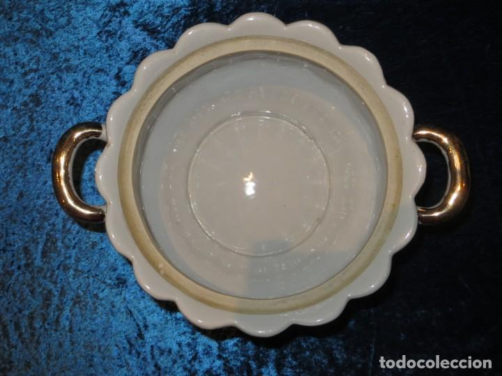 Antigüedades: Antigua sopera ensaladera porcelana China King Cheng oriental numerada sellada firma Ave Fénix oro - Foto 28 - 250148670