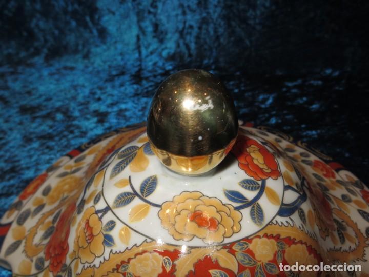 Antigüedades: Antigua sopera ensaladera porcelana China King Cheng oriental numerada sellada firma Ave Fénix oro - Foto 41 - 250148670