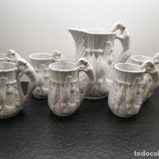 Antigüedades: CONJUNTO DE JARRAS DE GRISSONS PORCELANA ESPAÑA. GALGOS, MOTIVOS DE CAZA. (ENVÍO 5,43€). Lote 250161440