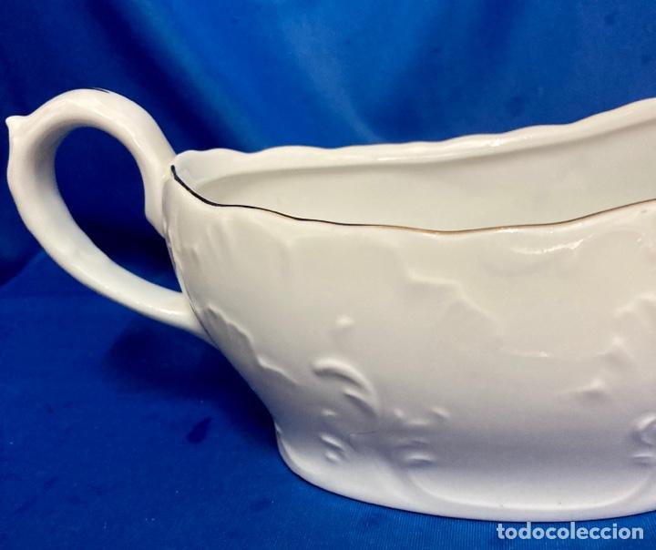 Antigüedades: Salsera porcelana de Bavaria, muy fina , antigua. - Foto 3 - 250170825