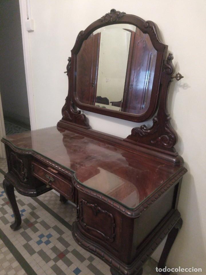 Antigüedades: ~~~~ ANTIGUA CÓMODA COQUETA TOCADOR, ESTILO ISABELINO DEL S.XIX, MADERA TALLADA ~~~~ - Foto 2 - 250217635