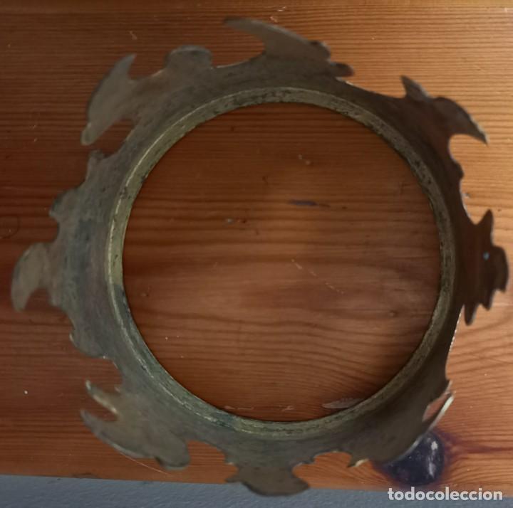 Antigüedades: CORONA METAL DORADO 95 CM DE DIAMETRO - Foto 5 - 250230685