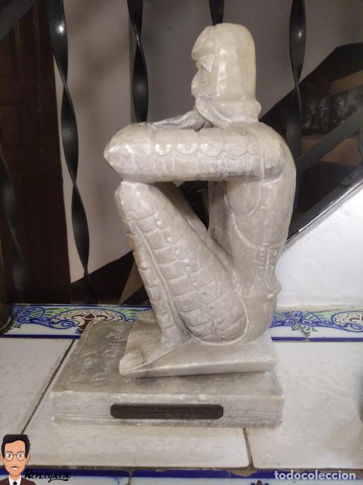 Antigüedades: ESCULTURAS DE DON QUIJOTE DE LA MANCHA Y SANCHO PANZA EN ALABASTRO (GRAN TAMAÑO) AÑOS 70 - Foto 7 - 250245865