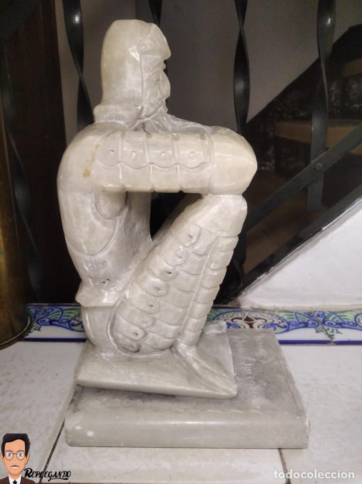 Antigüedades: ESCULTURAS DE DON QUIJOTE DE LA MANCHA Y SANCHO PANZA EN ALABASTRO (GRAN TAMAÑO) AÑOS 70 - Foto 11 - 250245865