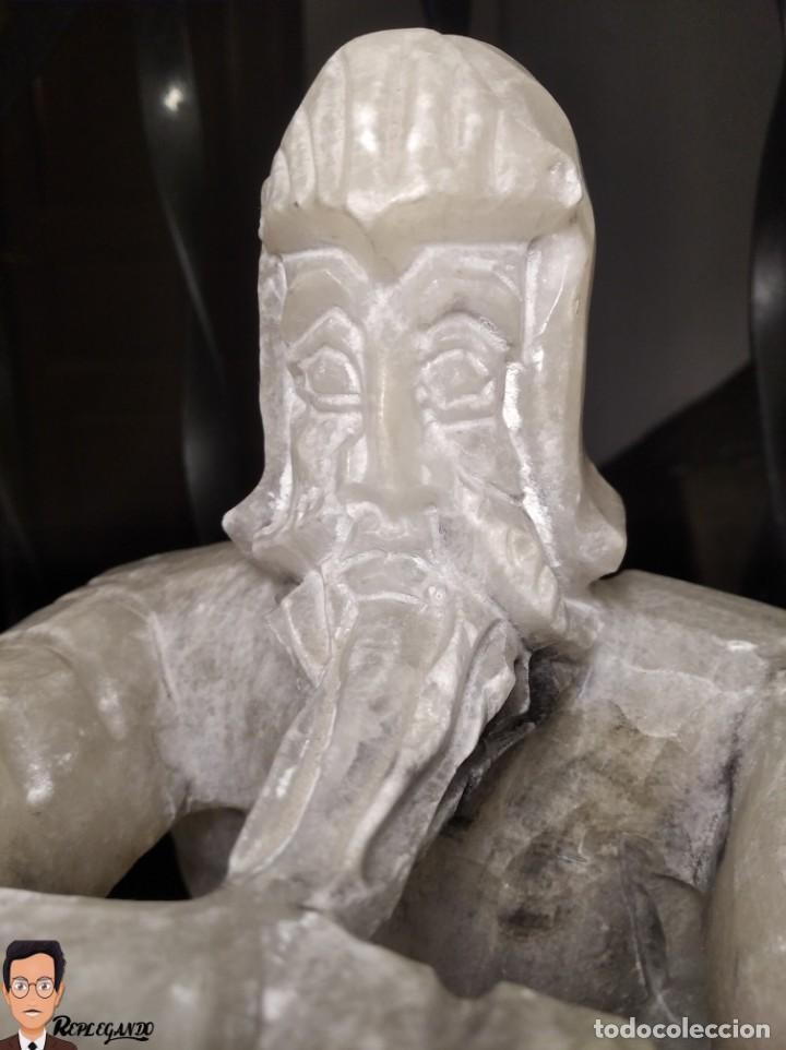 Antigüedades: ESCULTURAS DE DON QUIJOTE DE LA MANCHA Y SANCHO PANZA EN ALABASTRO (GRAN TAMAÑO) AÑOS 70 - Foto 13 - 250245865