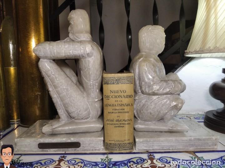 Antigüedades: ESCULTURAS DE DON QUIJOTE DE LA MANCHA Y SANCHO PANZA EN ALABASTRO (GRAN TAMAÑO) AÑOS 70 - Foto 26 - 250245865