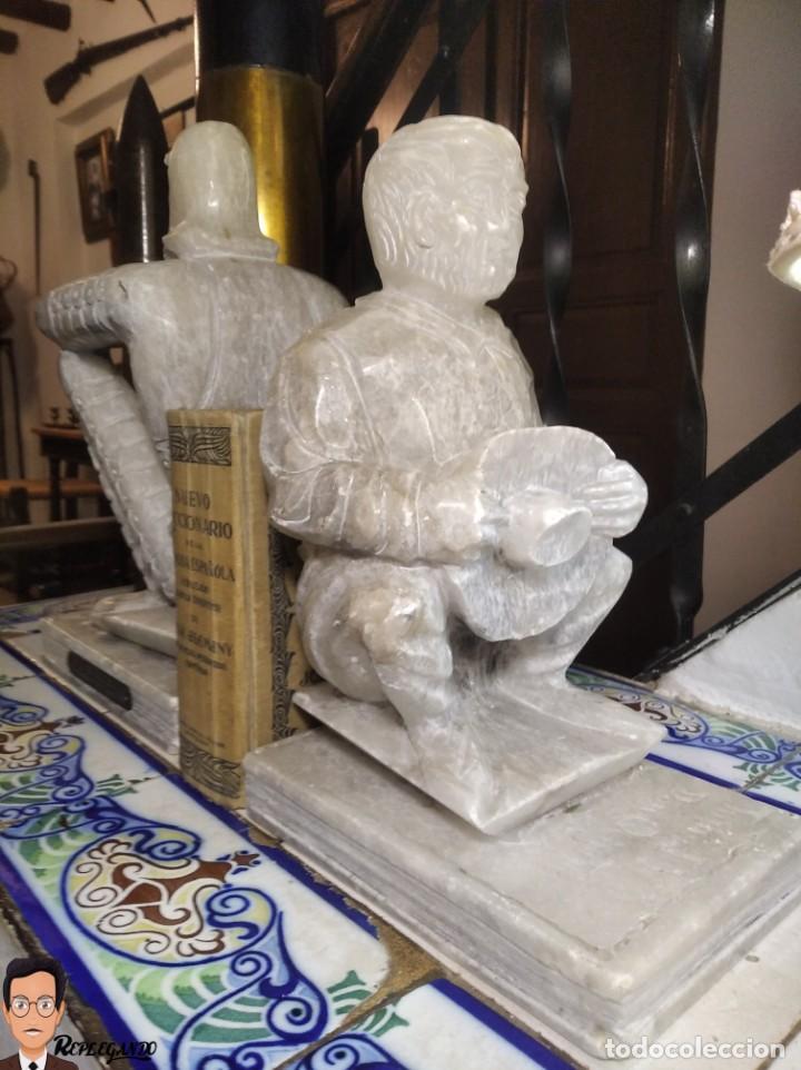 Antigüedades: ESCULTURAS DE DON QUIJOTE DE LA MANCHA Y SANCHO PANZA EN ALABASTRO (GRAN TAMAÑO) AÑOS 70 - Foto 28 - 250245865