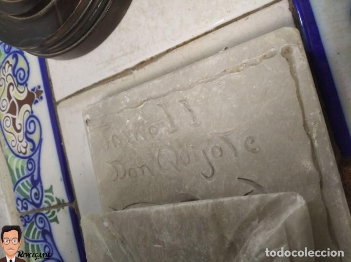 Antigüedades: ESCULTURAS DE DON QUIJOTE DE LA MANCHA Y SANCHO PANZA EN ALABASTRO (GRAN TAMAÑO) AÑOS 70 - Foto 29 - 250245865