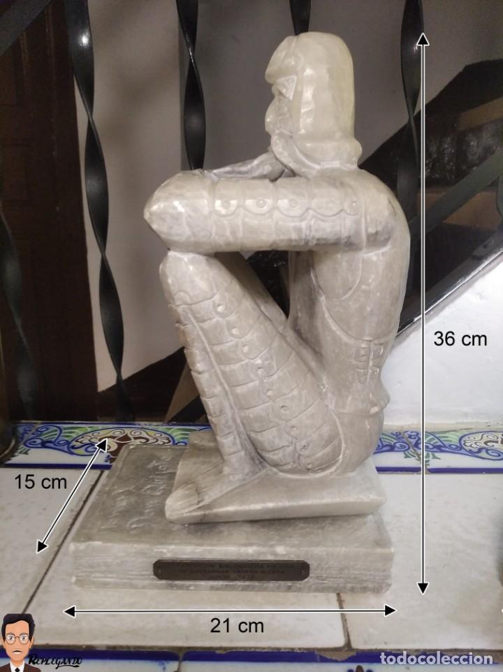 Antigüedades: ESCULTURAS DE DON QUIJOTE DE LA MANCHA Y SANCHO PANZA EN ALABASTRO (GRAN TAMAÑO) AÑOS 70 - Foto 33 - 250245865