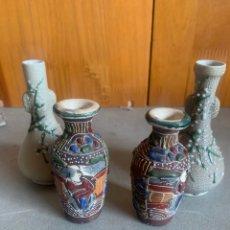 Antigüedades: JARRÓN MEIJI JAPON PORCELANA CERÁMICA. Lote 250274325