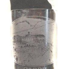 Antiquités: VASO CRISTAL FALTRIQUERA BALNEARIO CARDÓ AGUAS ARSENICALES, GRABADO AL ACIDO AÑOS 20.. Lote 250291110
