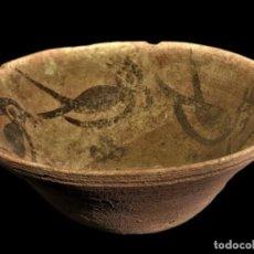 Antigüedades: EDAD DEL BRONCE, VALLE DEL INDO. CUENCO DE TERRACOTA CON PAJAROS ESTILIZADOS. 100MM. III M.A.C.. Lote 250227280