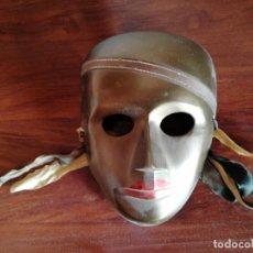 Antigüedades: MASCARA METAL. Lote 263703140
