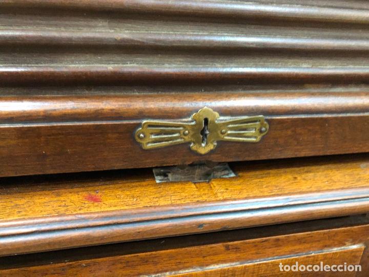 Antigüedades: ANTIGUO ESCRITORIO BURO DE PERSIANA - MEDIDA 121x81x116 CM - Foto 19 - 250304020
