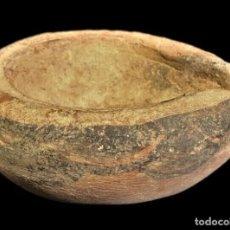 Antigüedades: EDAD DEL BRONCE, VALLE DEL INDO. LAMPARA DE ACEITE DE TERRACOTA. 80MM. III M.A.C.. Lote 249503475