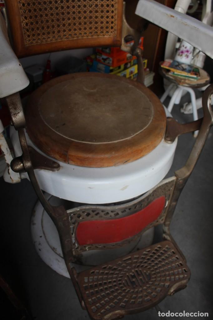 Antigüedades: Original Silla de Barbero marca Jaso - Foto 5 - 250330735