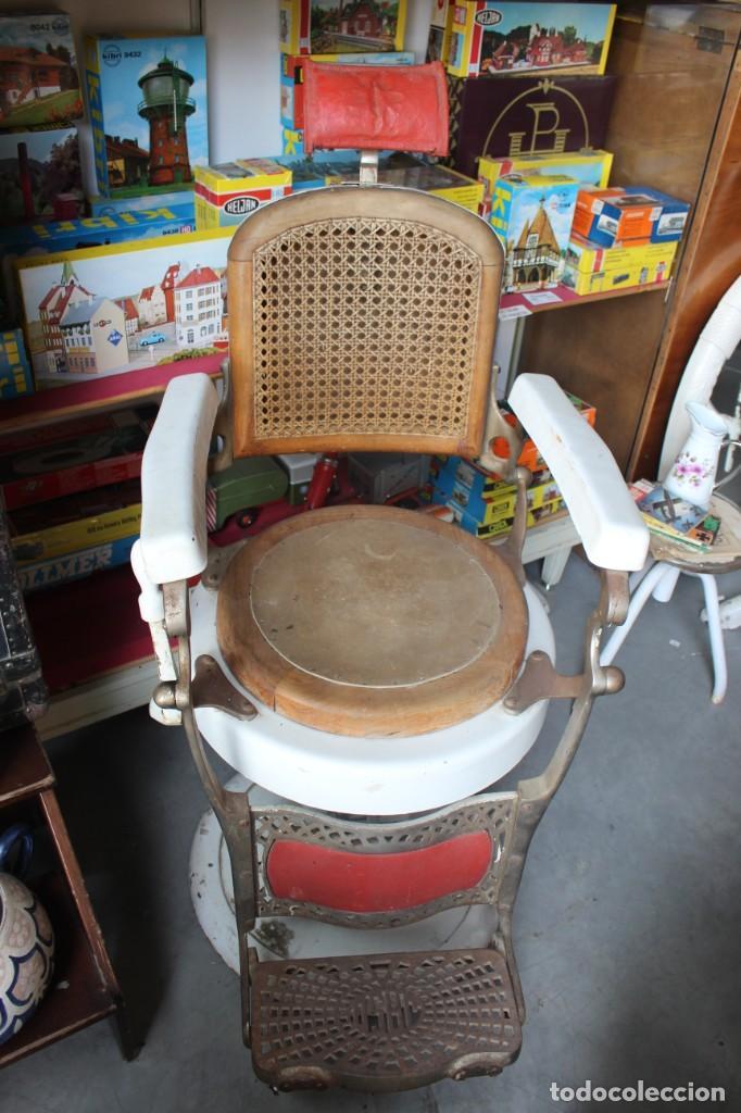 Antigüedades: Original Silla de Barbero marca Jaso - Foto 6 - 250330735