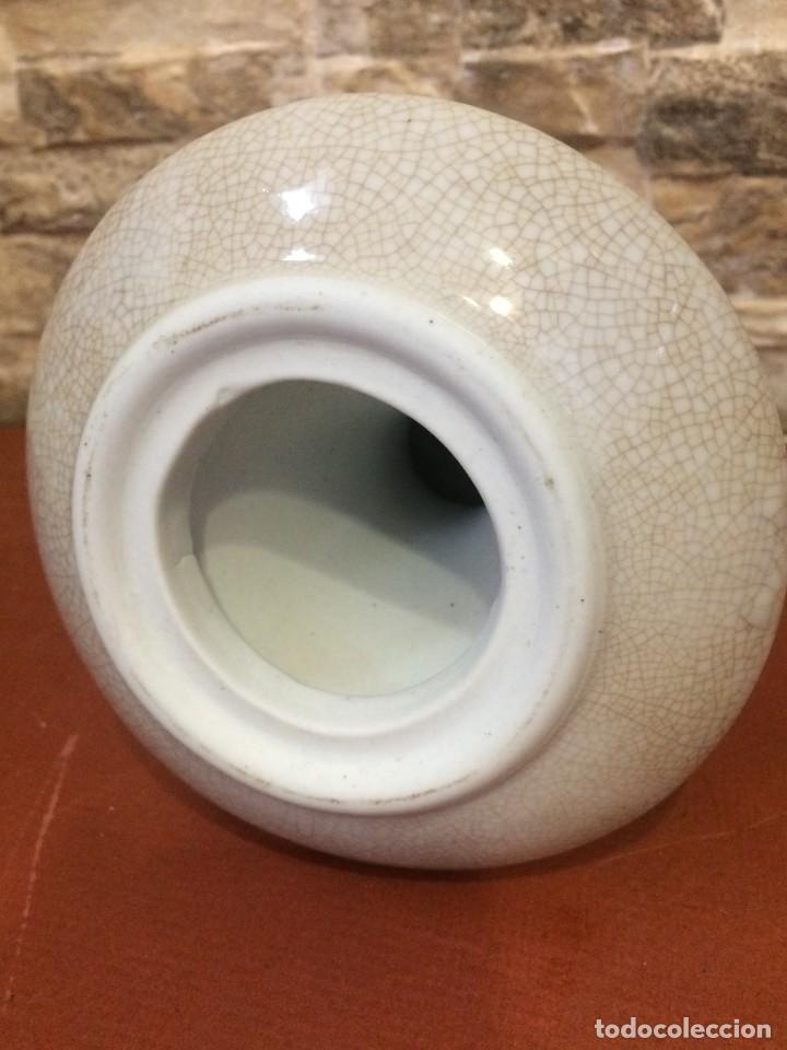 Antigüedades: Palmatoria portavelas cerámica craquelada Excelente estado - Foto 9 - 251022455