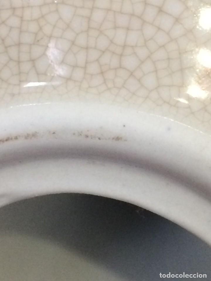 Antigüedades: Palmatoria portavelas cerámica craquelada Excelente estado - Foto 10 - 251022455
