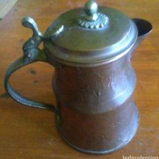 Antigüedades: ANTIGUA CHOCOLATERA DE COBRE. Lote 251026605