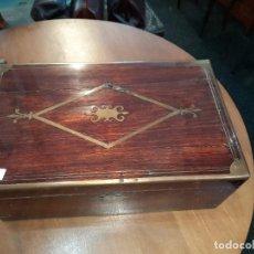Antigüedades: MAGNÍFICO ESCRITORIO DE BARCO. INGLATERRA S. XIX. Lote 251035770
