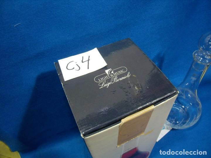 Antigüedades: Licorera cristal tallado al acido de Luigi Bormioli, Italia, años 80, Nuevo sin usar, caja original. - Foto 4 - 251035910