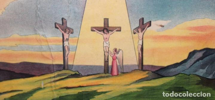 Antigüedades: CARTEL RELIGIOSO DE CATAQUESIS POR DIONIS BAIXERAS. ED. JOSE VILAMALA - Foto 5 - 251171535