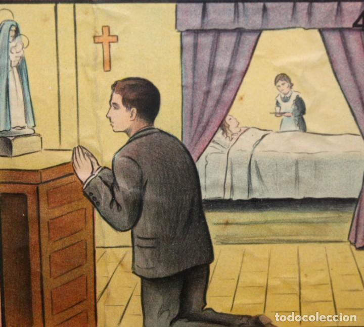 Antigüedades: CARTEL RELIGIOSO DE CATAQUESIS POR DIONIS BAIXERAS. ED. JOSE VILAMALA - Foto 7 - 251171535
