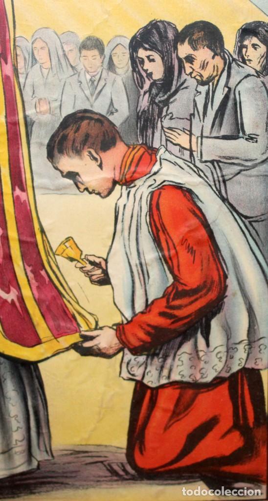 Antigüedades: CARTEL RELIGIOSO DE CATAQUESIS POR DIONIS BAIXERAS. ED. JOSE VILAMALA - Foto 10 - 251171535