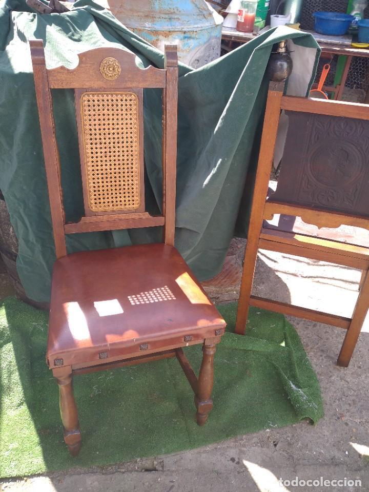 Antigüedades: silla muy antigua de madera - Foto 2 - 251172810