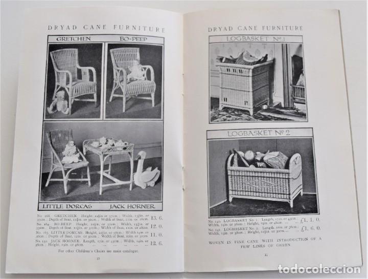 Antigüedades: CATÁLOGO MUEBLES DE MIMBRE INGLÉS AÑOS 20-30 THE DRYAD CANE FURNITURE FABRICANTE HARRY PEACH - Foto 5 - 251189330