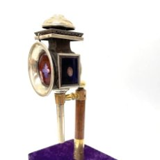 Antigüedades: FAROL TRASERO DE CARRO O COCHE - S. XIX - XX. Lote 251206220