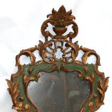 Antigüedades: CORNUCOPIA EN MADERA POLICROMADA DEL SIGLO XIX. Lote 251209770