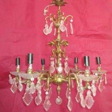 Antigüedades: ESPECTACULAR LAMPARA MARIA TERESA EN BRONCE Y CRISTAL TIENDA PALACIO SALON. Lote 251213760