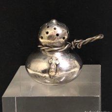 Antigüedades: ANTIGUO INCIENSERO FORMA DE CALABAZA CRUZ DE SANTIAGO. Lote 251229355