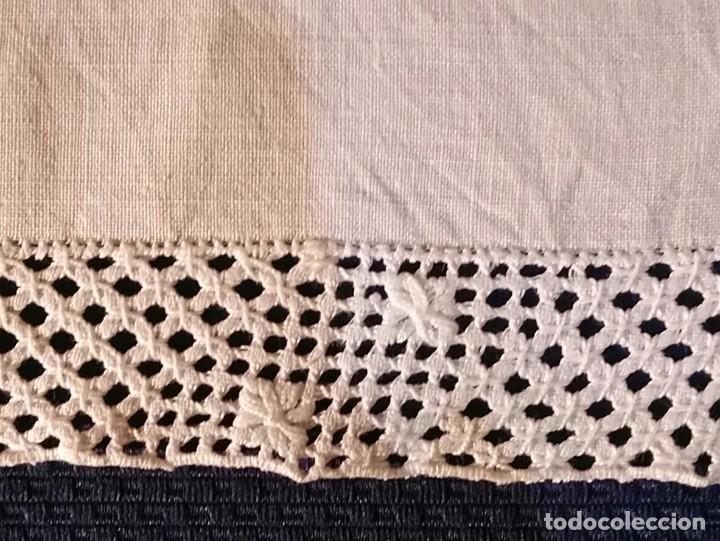 Antigüedades: Tp 53 Tapete hilo rodeado encaje ganchillo blanco - 40cm x 32cm - Foto 3 - 251253525