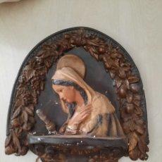 Antigüedades: PLAFON ANTIGUO ,FIGURA DE AVE MARIA CON LAMPARA. Lote 251353430