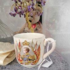 Antigüedades: CORONACION ENRIQUE VIII TAZA CAFE O TÉ INGLESA DE 1937 ORIGINAL. Lote 251369040