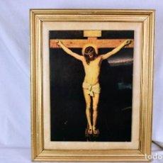 Antigüedades: ANTIGUO CUADRO DE CRISTO CRUCIFICADO. Lote 251405640