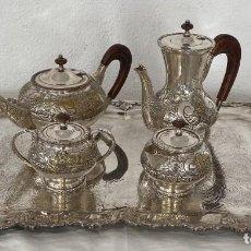 Antigüedades: IMPRESIONANTE JUEGO DE CAFE SHEFFIELD - SIGLO XIX. Lote 251470395