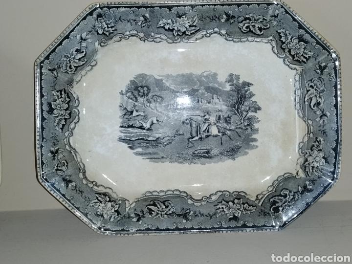 Antigüedades: Dos bandejas ochavadas Fabrica La Amistad - Foto 2 - 251485860