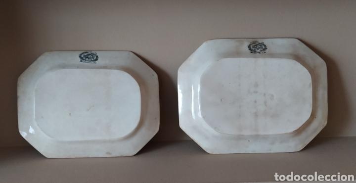 Antigüedades: Dos bandejas ochavadas Fabrica La Amistad - Foto 4 - 251485860