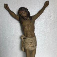 Antigüedades: CRISTO DE OLOT32X20.5X7CM (DESCRIPCIÓN EN IMÁGENES €. Lote 251519320