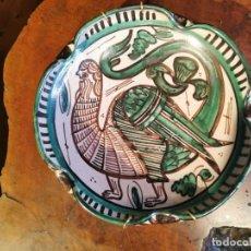 Antigüedades: BELLO PLATO O CUENCO DE CERAMICA ARAGONESA DEL FAMOSO CERAMISTA DOMINGO PUNTER FIRMADO R 42 PERFECTO. Lote 251551230