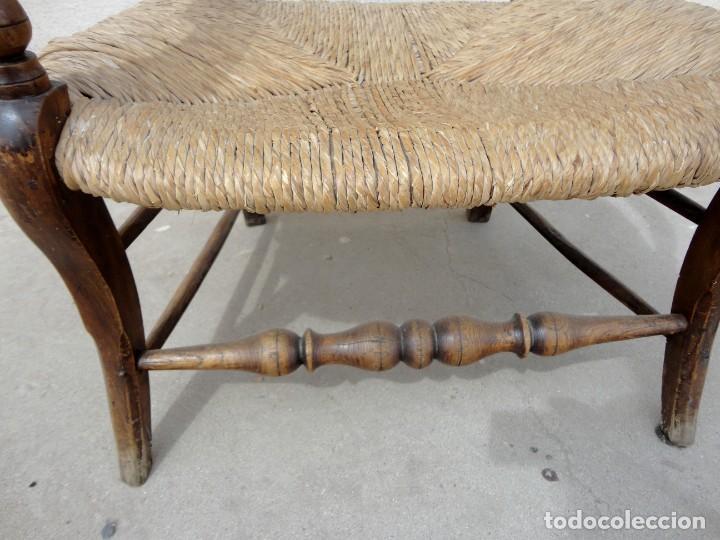 Antigüedades: Sillon rustiico antiguo en madera de olivo tallado - Foto 6 - 251556160