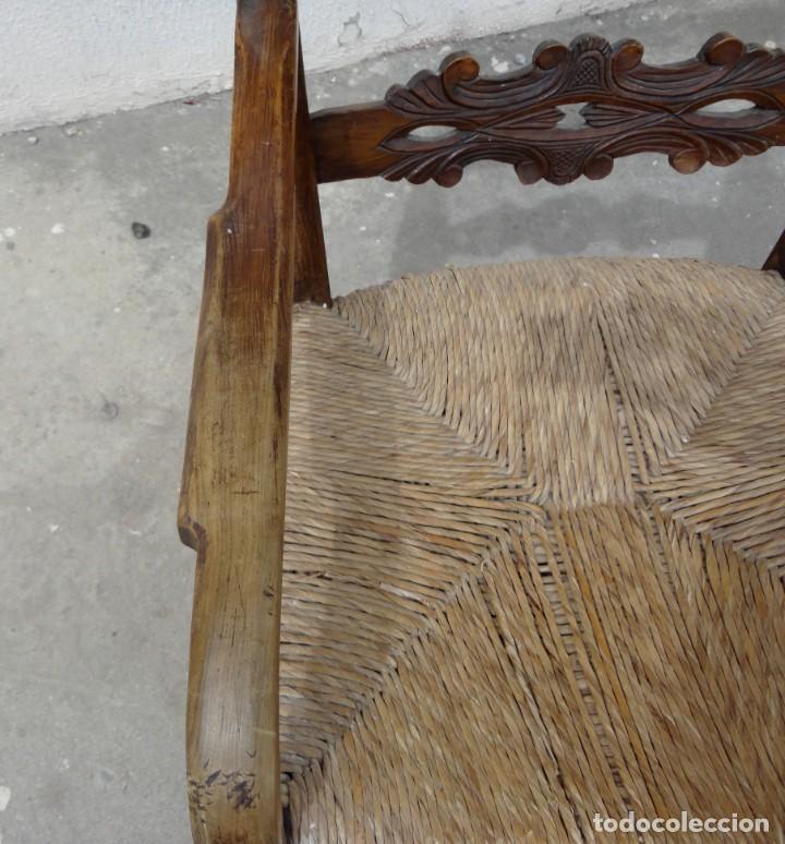 Antigüedades: Sillon rustiico antiguo en madera de olivo tallado - Foto 7 - 251556160