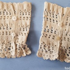 Antigüedades: MANGUITOS.DE GANCHILLO. Lote 251582745