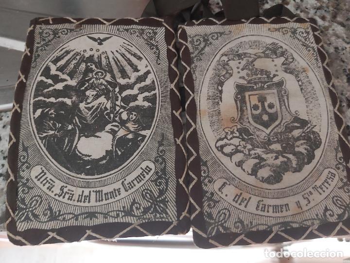 ESCAPULARIO SRA. DEL MONTE CARMELO (Antigüedades - Religiosas - Escapularios Antiguos)